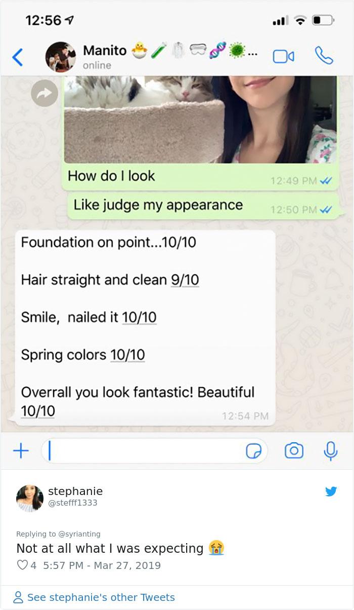 16個勇氣妹傳自拍問親哥「我看起來如何」的爆笑回覆 被罵醜已經算客氣了!