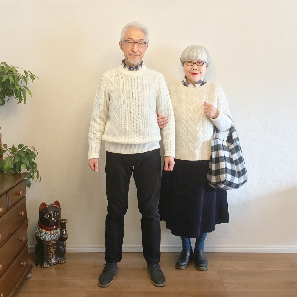每天約好穿「不害羞情侶裝」超潮銀髮夫妻! 「過百種低調放閃穿搭」網大推:每招都要筆記下來