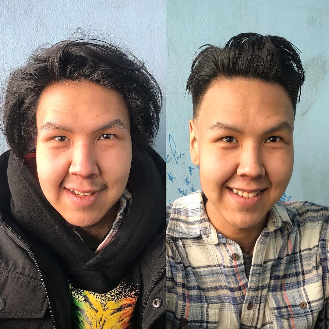 22張暖男髮型師「免費幫街友剪頭髮」超狂改造圖 網卻大驚:結果最帥的是髮型師