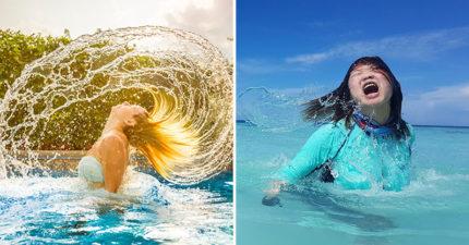 她蜜月求幫拍「出水芙蓉」浪漫甩髮照 老公掌鏡「超滿意成果」網笑翻:是哥吉拉海報?