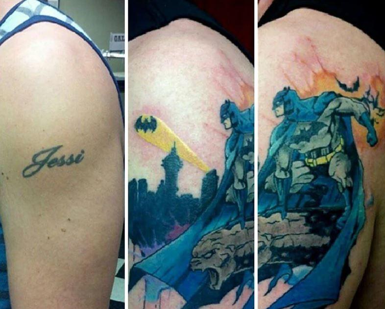 16個屁孩長大後悔「改造黑歷史刺青」的照片 可恨的前男友秒變超帥蝙蝠俠!