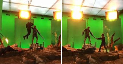 小勞勃道尼IG發「薩諾斯屌虐美隊+鋼鐵人」影片 眼尖粉絲發現「超懶英雄」根本躺著賺!