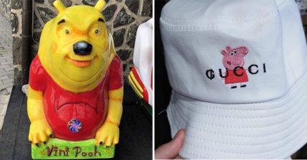 17個想抄襲「設計師還超不用心」的爆笑山寨商品 GUCCI+佩佩豬超母湯!