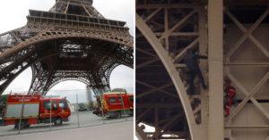 荒唐哥「徒手爬巴黎鐵塔」被警察帶走 法國政府震怒:暫時關閉!