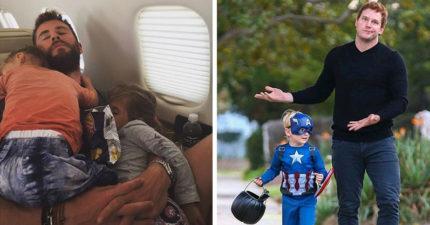 7個「漫威英雄→地表最強奶爸」的超反差照片 鋼鐵人私下竟然「比小孩還萌」!