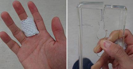 網友警告千萬「不要買手機硬殼」 他秀超慘「紅手指」苦笑:大概是全台首例!