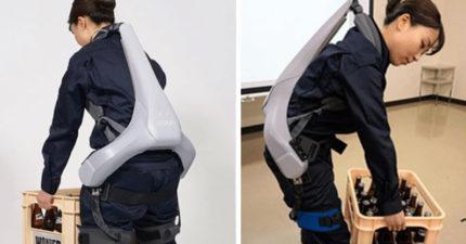 日本推超狂「電動骨骼」讓你秒變浩克!一穿上「力量值爆表」媽媽們推爆:不會再腰痛了~