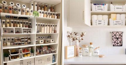 太療癒!15張「強迫症媽媽們」的完美收納照 櫥櫃打開竟是一間「迷你小超市」~