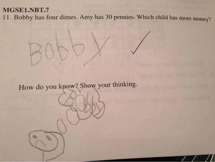 15張孩子作業的「爆笑神回覆」老師只能哭著給滿分 網笑翻:絕對是天才!