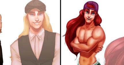 王子都要靠邊站!把迪士尼公主「性轉變超帥天菜」 男版「寶嘉康蒂」辣到母湯