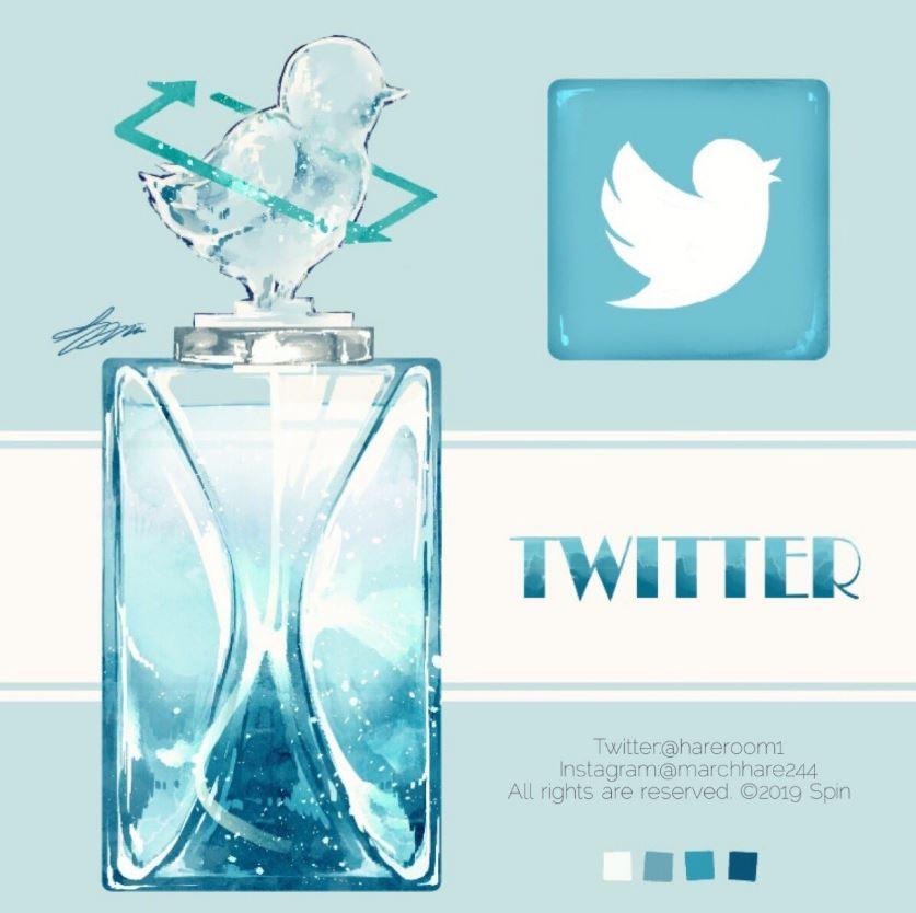 他把知名App做成「超夢幻香水」瓶蓋上的精美雕塑超OP!推特的小鳥活過來了~