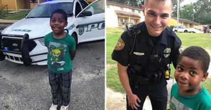 6歲男童被媽媽罵太難過「打電話報警」 暖心警察「緊急出動」讓網友讚爆!