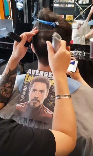 他求髮型師讓鋼鐵人「在腦袋上復活」 成品「超寫實3D效果」網嚇傻:怎麼變佛地魔!