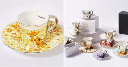 韓國藝術家打造「神奇鏡射馬克杯」 盤子放上特製馬克杯立刻「飛出一隻蝴蝶」