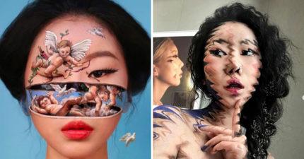 韓國美女藝術家「超現實彩繪」讓人分不清現實 她「有6隻眼睛」嚇呆所有人!