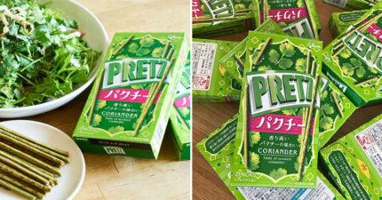 零食大廠推「香菜PRETZ餅乾棒」挑戰味覺極限 咬一口「菜味大噴發」香菜控必囤!