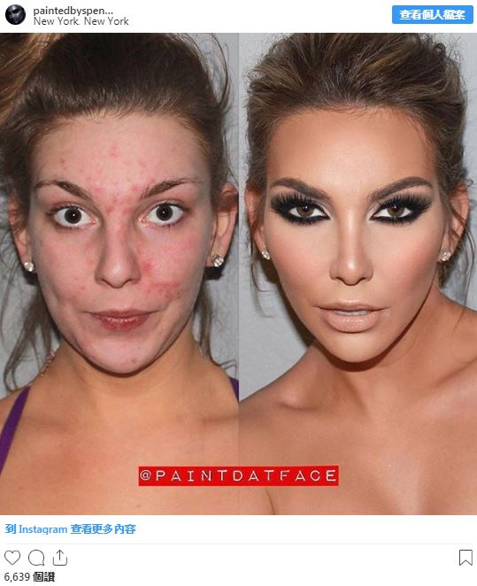15張讓你秒懂「化妝秘密」的前後對比照 歐美妝最重視「雙眼皮線」可以改變一個人!