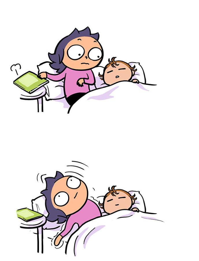15張「只有生過小孩才懂」的爆笑育兒漫畫 每晚都要練習「軟骨功」才能脫身!