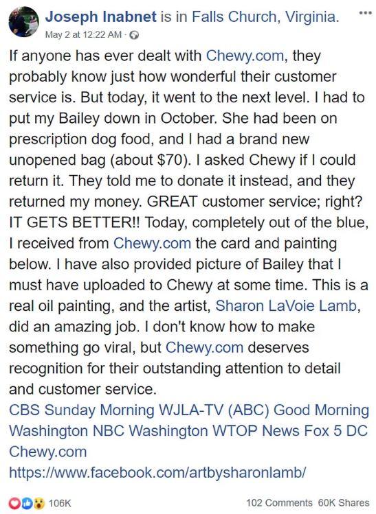 他在狗狗過世後決定把「未開封飼料退還」 寵物店卻「還給他愛犬」讓他瞬間爆淚!