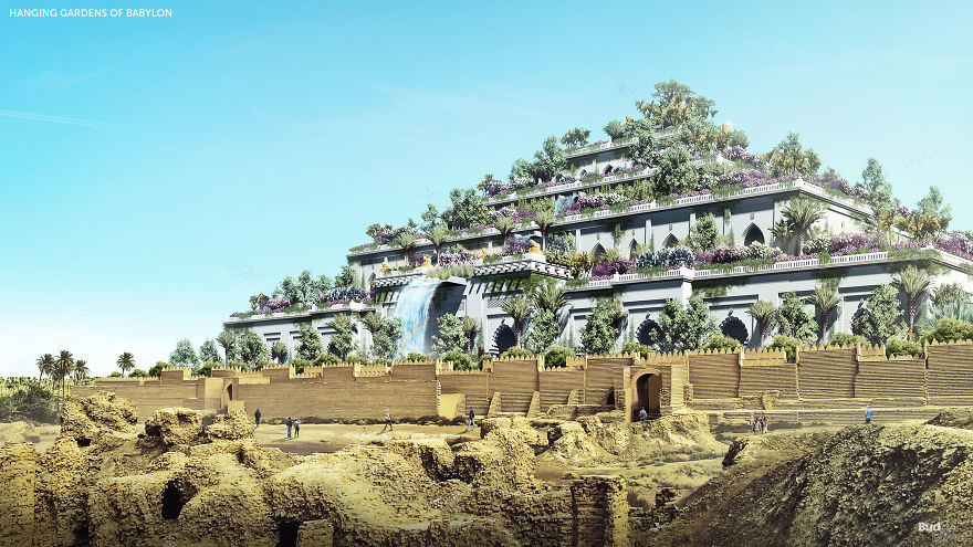 這才是「古代世界7大奇蹟」真正看起來的樣子!歷史中「空中花園」比你想像中更夢幻