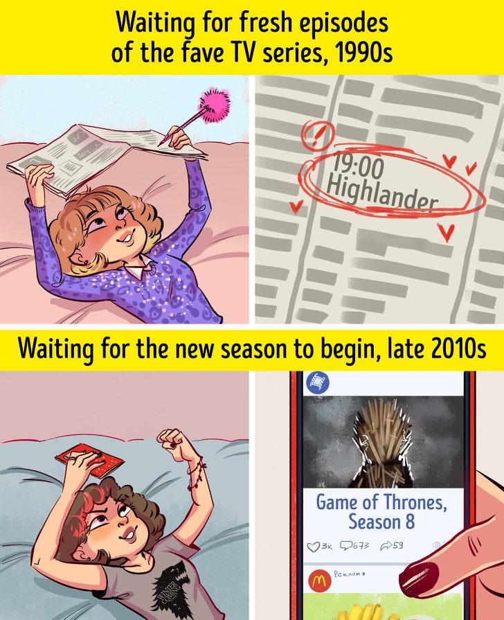 10張「過去和現在改變超大」的漫畫比較圖 但不管科技怎麼進步「事情永遠做不完」!