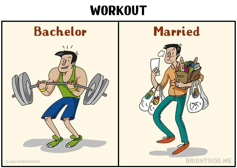 男人們的痛?11個男生「單身VS婚後」的反差漫畫 結婚後沒薪水了