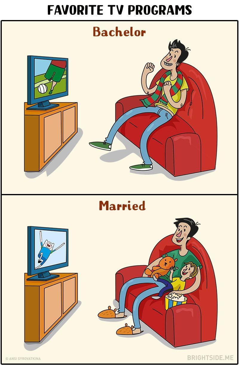 11個揭示男生「單身VS婚後」的反差漫畫 結婚以後幾乎「沒有自己的薪水」?