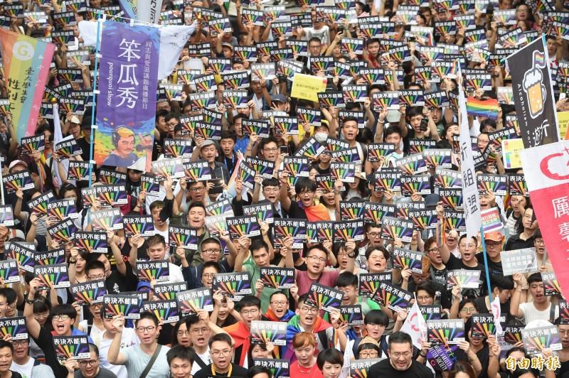 「彩虹戀人可否結婚」就看今日!「2.8萬人凱道力挺」蘇貞昌呼籲投票:要讓台灣向前
