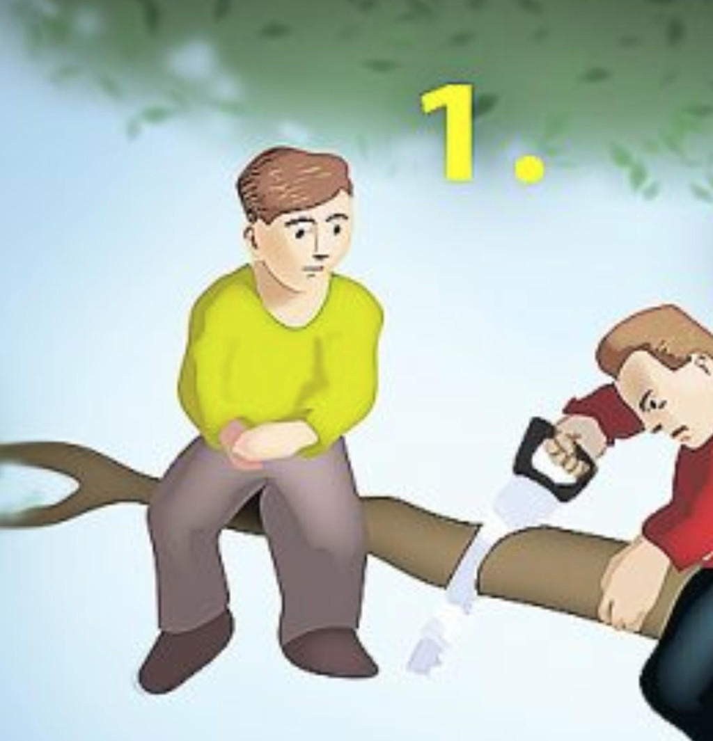 網瘋傳「能測出性格缺陷」的超簡單心理測驗 在樹上的4個人「哪一個最笨?」