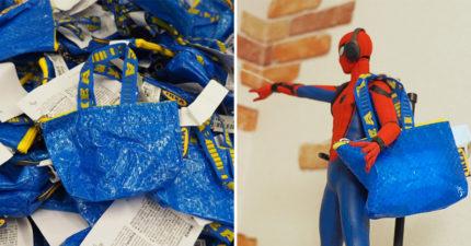 日本人為「IKEA零錢包」發明超神另類用途 蜘蛛人「有新包包逛街」畫面爆笑!