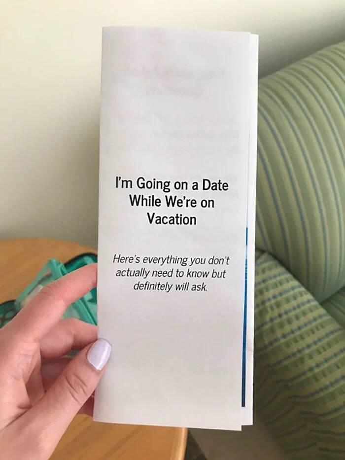 她要去約會又不想「被家人問東問西」 親手製作「Q&A小冊子」讓長輩全閉嘴!