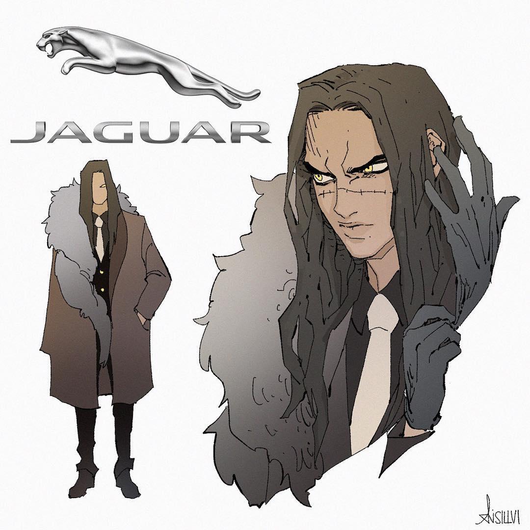 藝術家腦洞大開把「10個汽車品牌」擬人化 Jaguar「臉上的痕跡」超性感!