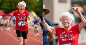 103歲老奶奶參加「賽跑比賽」拿第一 100米「超狂紀錄」網看傻:神力女超人再世!