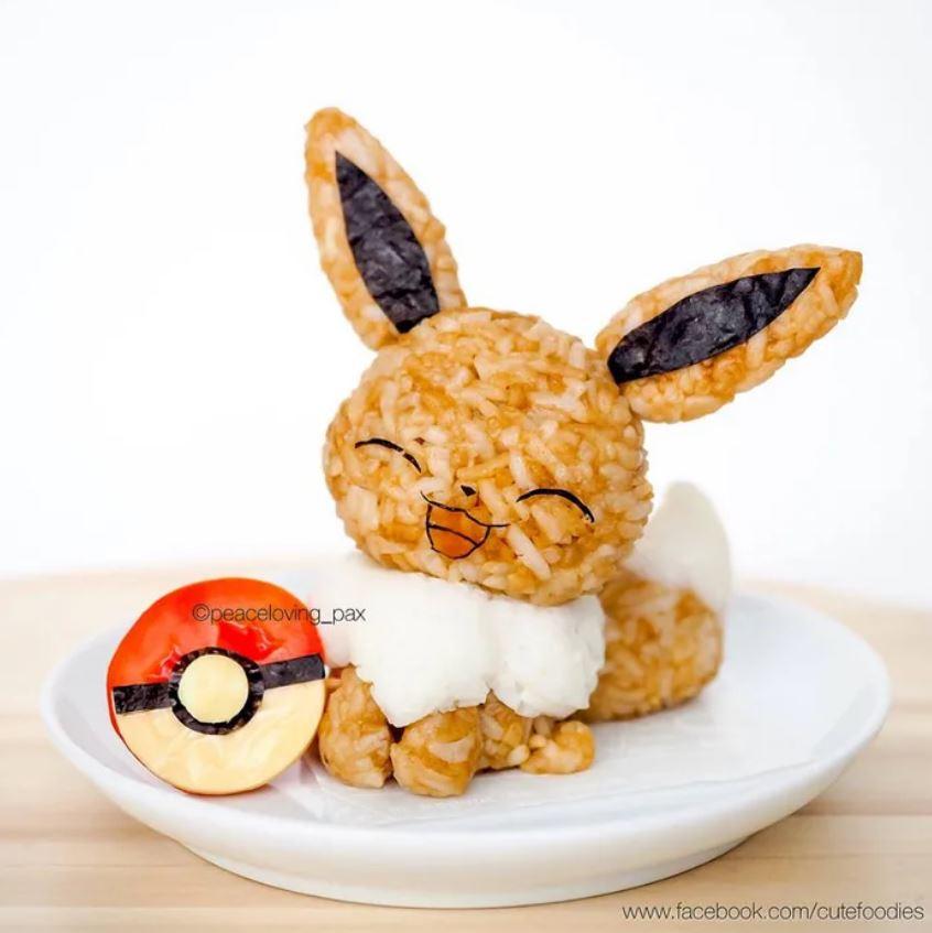 神人做出「萌系寶可夢飯糰」再餓也捨不得吃 皮卡丘把荷包蛋當被子蓋❤