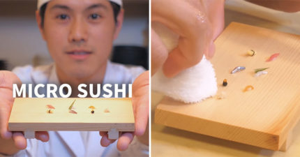 一粒米也要「切成3份」的超迷你握壽司!師傅背後動機「太有愛」網推:必朝聖