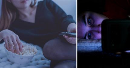 滑手機「滑到睡著」是你變胖的原因!研究證「光線下」體重增多22%:電視也會