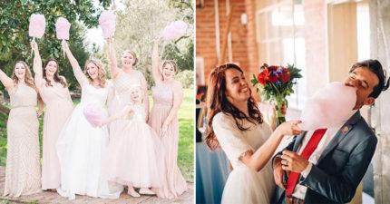 新娘改丟「棉花糖捧花」在國外爆紅 還沒進場「甜蜜大圓球」先被搶光光!