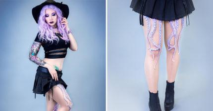 設計師做出「章魚腳絲襪」變身性感版烏蘇拉 「3D感超擬真」美人魚更夢幻!