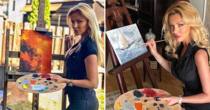 美女網紅狂發「超完美作畫照」被抓包疑點!酸民砲轟「她高EQ誠實回應」感動萬人