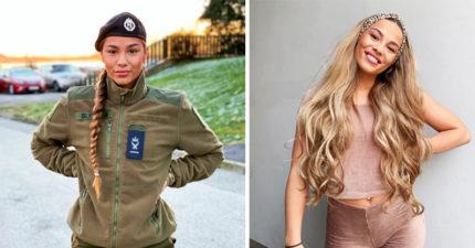 20位「穿上制服變女王、脫了變女神」的超正女兵 以色列女警的笑容讓人秒戀愛❤