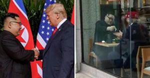 影/網友在東京捕捉到「野生金正恩+川普」密會!網嚇呆:等一下維尼就來了?