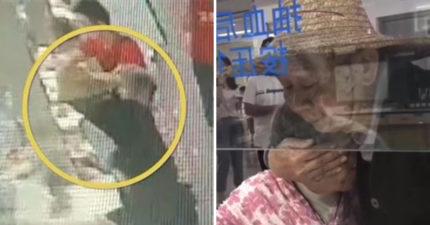 70歲老奶奶要抽血太害怕 老爺爺霸氣「攬進懷裡」用大手遮眼:別怕!