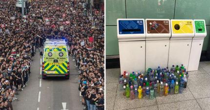 15張證明反送中是「最有秩序抗議」的照片 遊行隔天把「乾淨街道還給香港人」超感動!