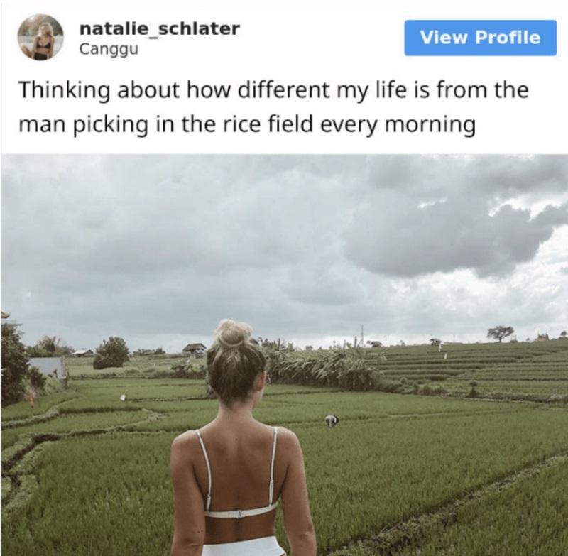 網美上傳「稻田比基尼照」卻被罵到刪帳號 1.2萬網友暴怒:膚淺又冷漠!