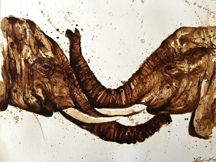 20張證明神人「拿到廢物也可以變藝術」的超狂設計照 喝剩的咖啡變世界名畫!