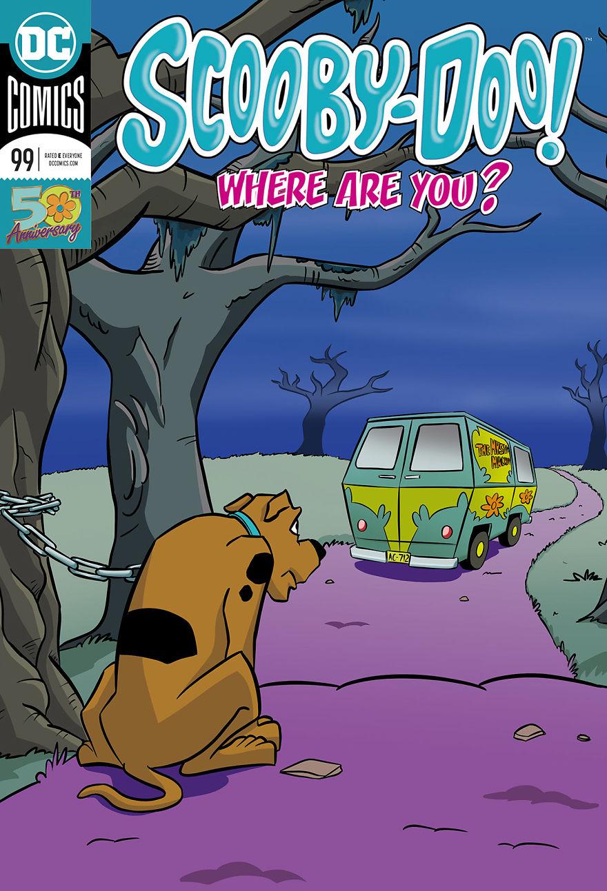藝術家讓10個知名卡通「都拋棄他們的寵物」 皮卡丘悲慘下場竟是「自私大學生」害的!