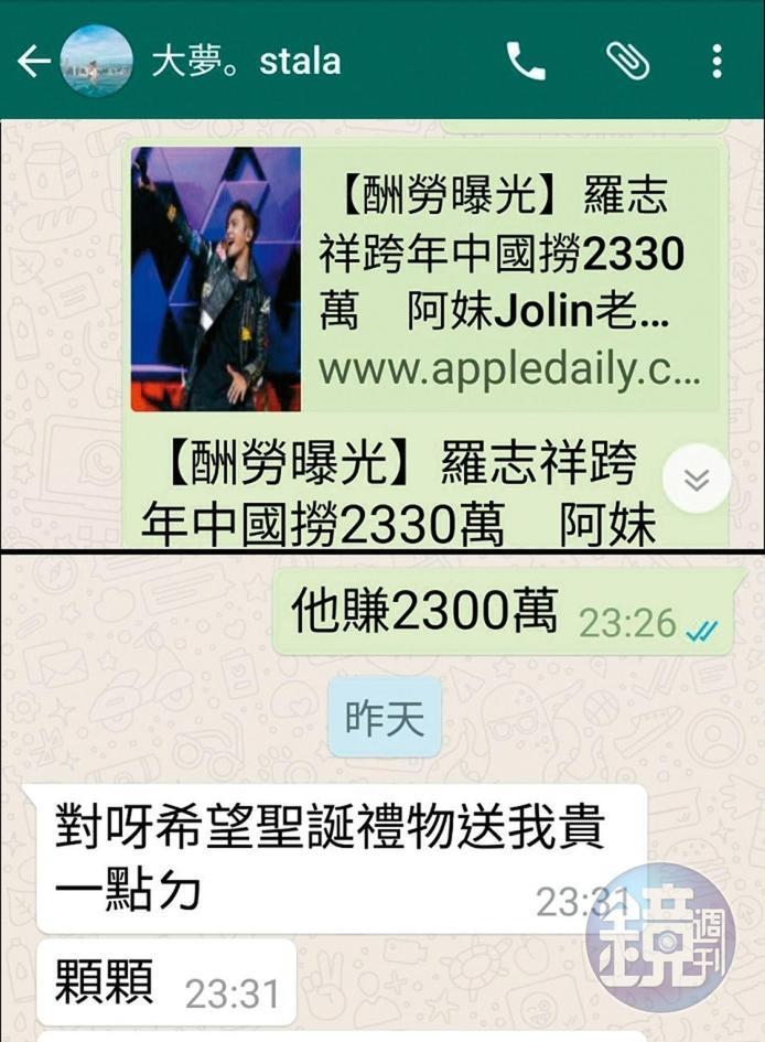 火辣女星自爆「設局天王男友」想奪正宮位 訊息曝光「地址跟羅志祥一樣」!