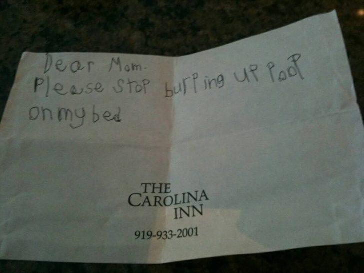 20位天才小孩「企圖騙過大人」的超爆笑字條 他寫下「停課通知」卻不小心拼錯字!