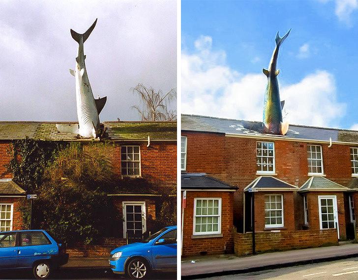 10個讓你「後悔平常只是路過」的超有意義雕像 「屋頂上的鯊魚」是日本人最痛記憶!