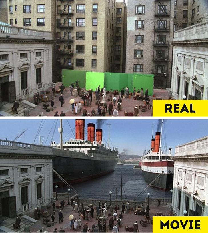 20張「已經能夠創下歷史」的電影特效對比照!《哈利波特》證明演員想像力太強